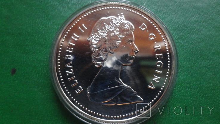 1 долларов 1986 Канада Ванкувер Паровоз  серебро (2.4.1)~, фото №4