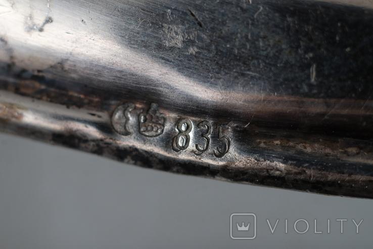 Серебрянная ваза 835 пр., фото №5