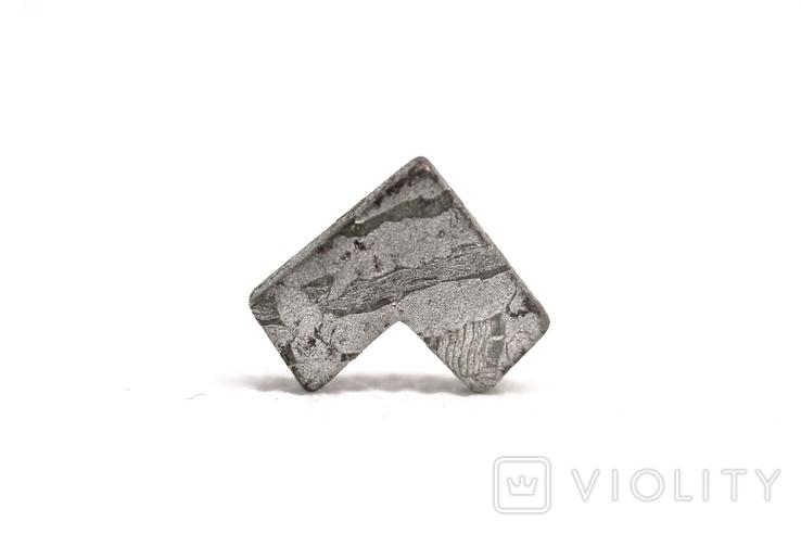 Заготовка-вставка з метеорита Seymchan, 2,3 г, із сертифікатом автентичності, фото №6