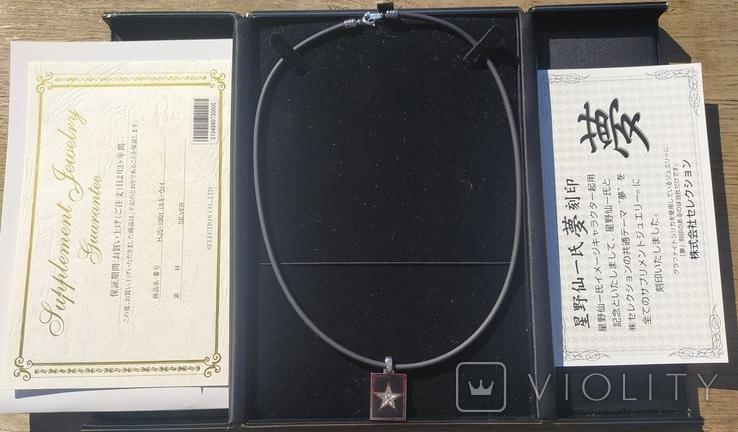 Фирменный кулон с эмалью и бриллиантами., фото №2