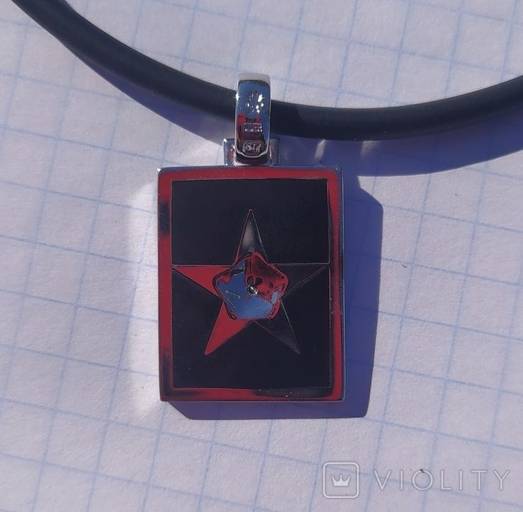 Фирменный кулон с эмалью и бриллиантами., фото №5