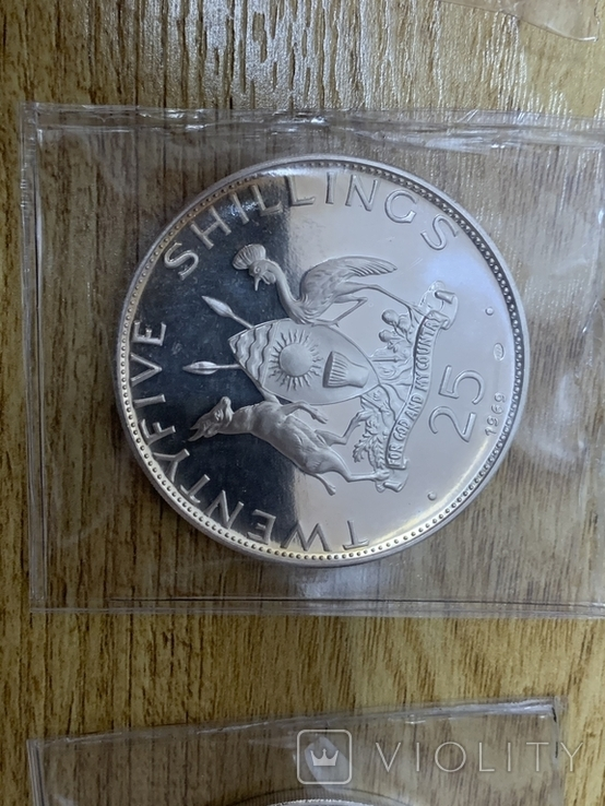 2, 5, 10, 20, 25, 30 Шилингов 1969 Уганда, фото №12
