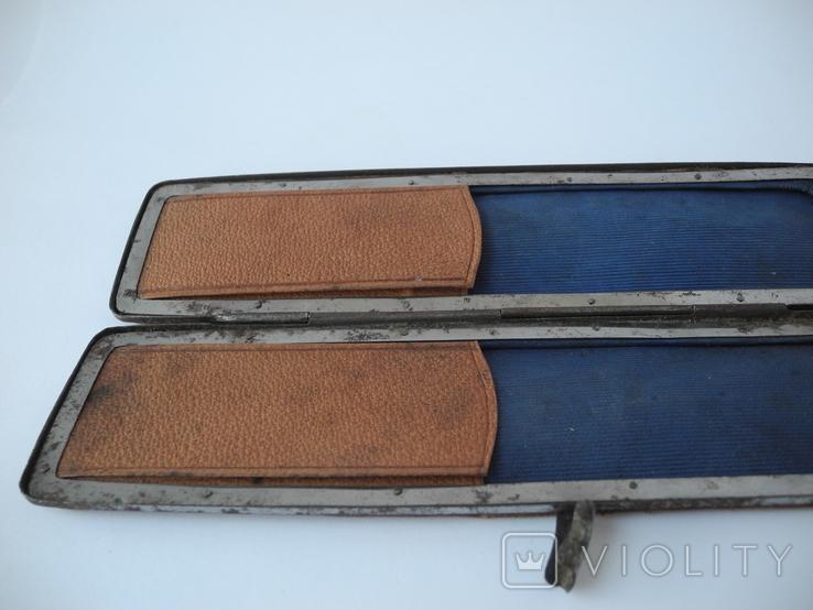 Старинный кожаный аксесуар вышит гладью ( Италия нач ХХ в ) Винтаж, фото №9