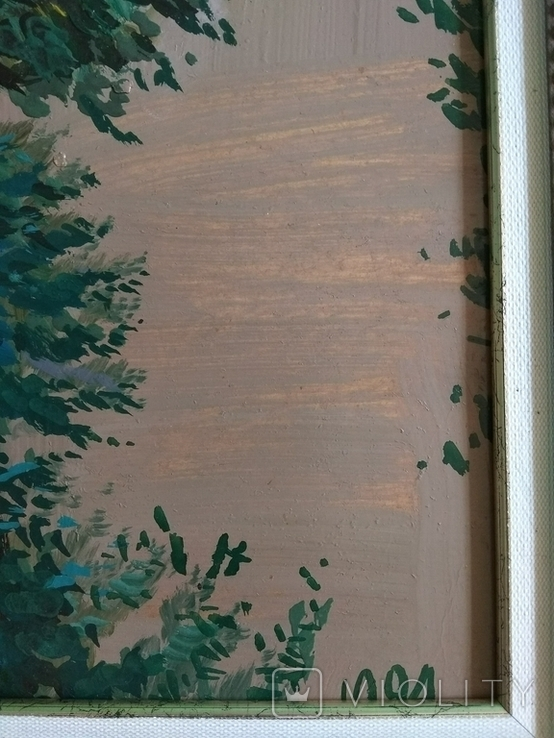 Харьковская школа.Александр Сердюков.Пейзаж 1994г.Картон,масло 38х55 ,в раме 44Х61., фото №11