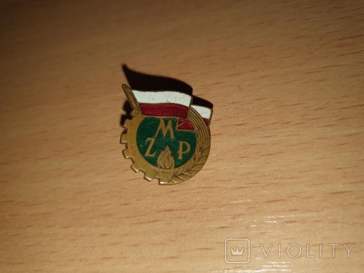 Знак ZMP Союз польской молодежи,Польша 1950 тые годы, фото №2