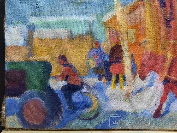 Картина Зима в деревне, фото №5