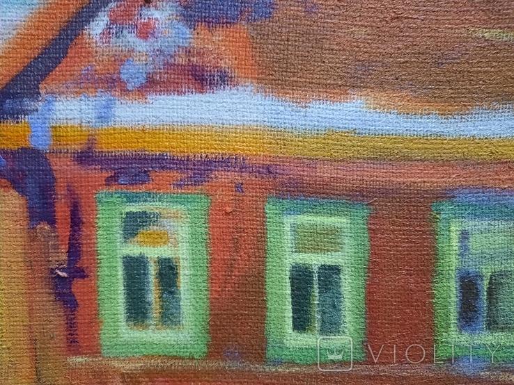 Картина Зима в деревне, фото №10