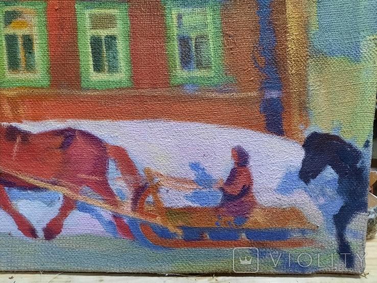 Картина Зима в деревне, фото №11