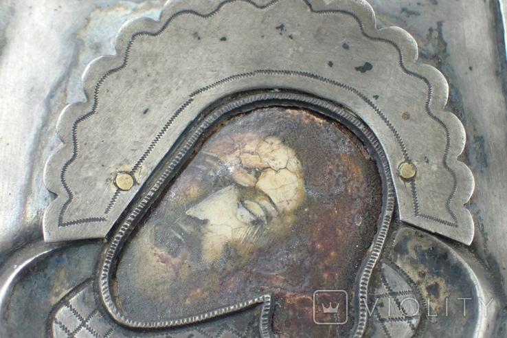 Серебрянная икона Иоанна Предтечи, фото №5