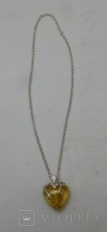 Подвеска на цепочке серебро 925., фото №3