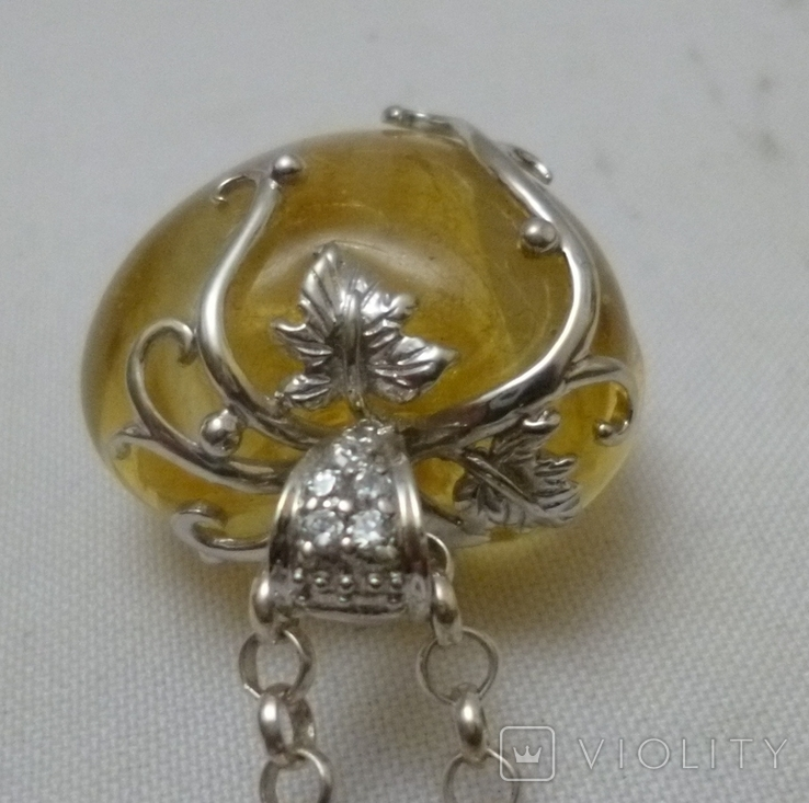 Подвеска на цепочке серебро 925., фото №5