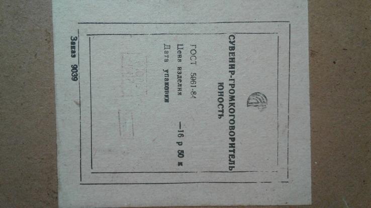 Сувенир-громкоговоритель ЮНОСТЬ, фото №5
