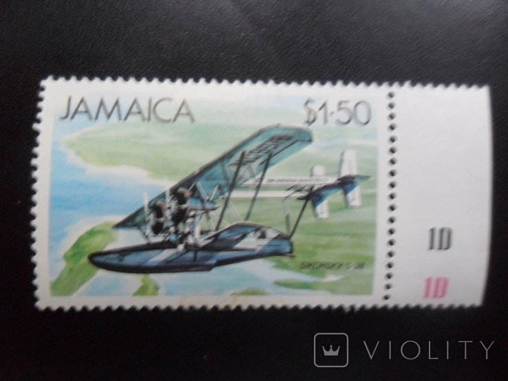Авиация. Ямайка.   марка  MNH, фото №2