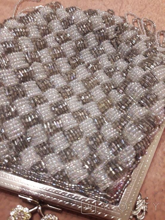 Театральная сумочка с бисером и камнями Unze на реставрацию + бонус, фото №4
