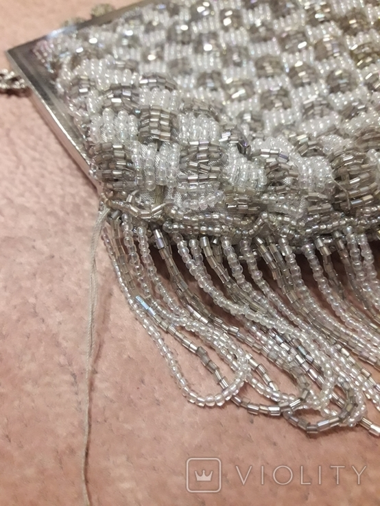 Театральная сумочка с бисером и камнями Unze на реставрацию + бонус, фото №7
