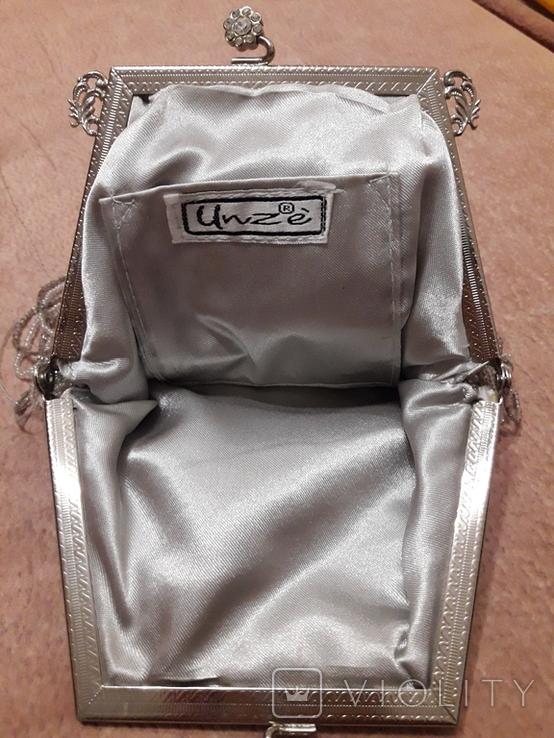 Театральная сумочка с бисером и камнями Unze на реставрацию + бонус, фото №10