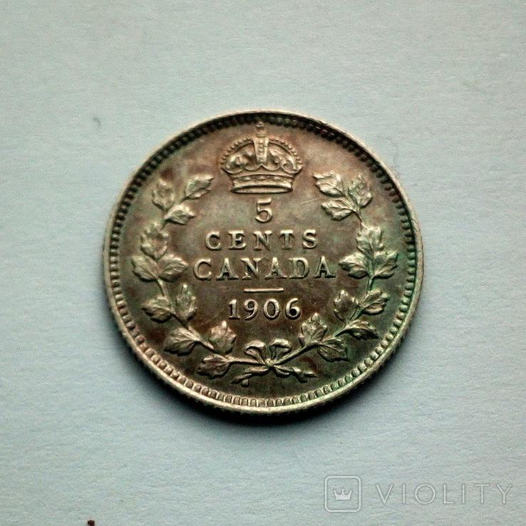 Канада 5 центов 1906 г. - Эдуард VII, фото №3