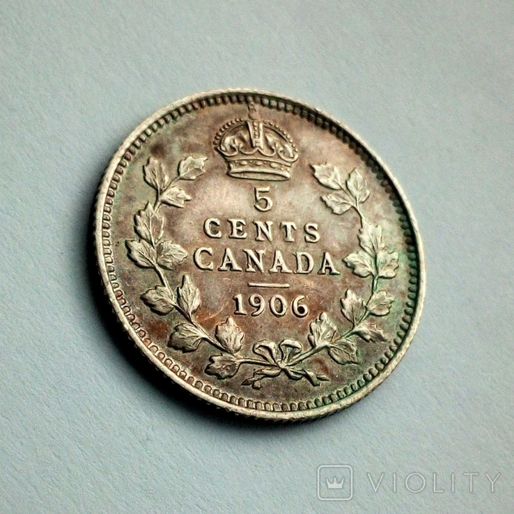 Канада 5 центов 1906 г. - Эдуард VII, фото №6