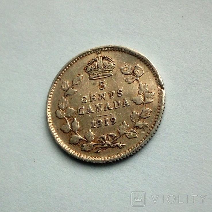 Канада 5 центов 1919 г. - Георг V, фото №7