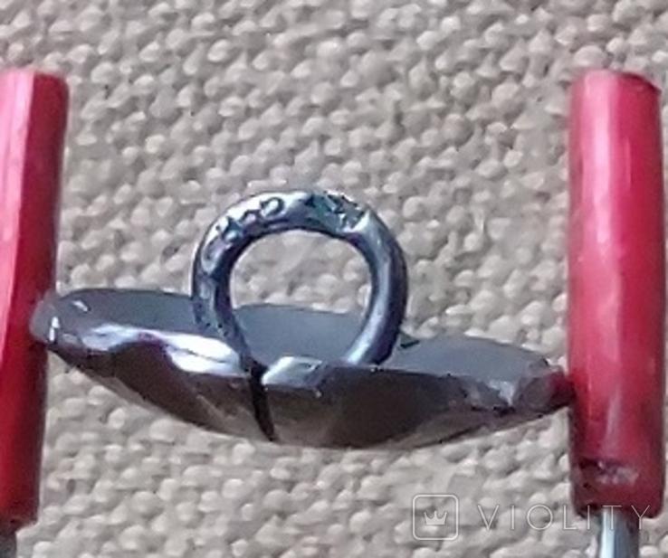 Серебренные пуговици 8шт. 835пр., фото №6