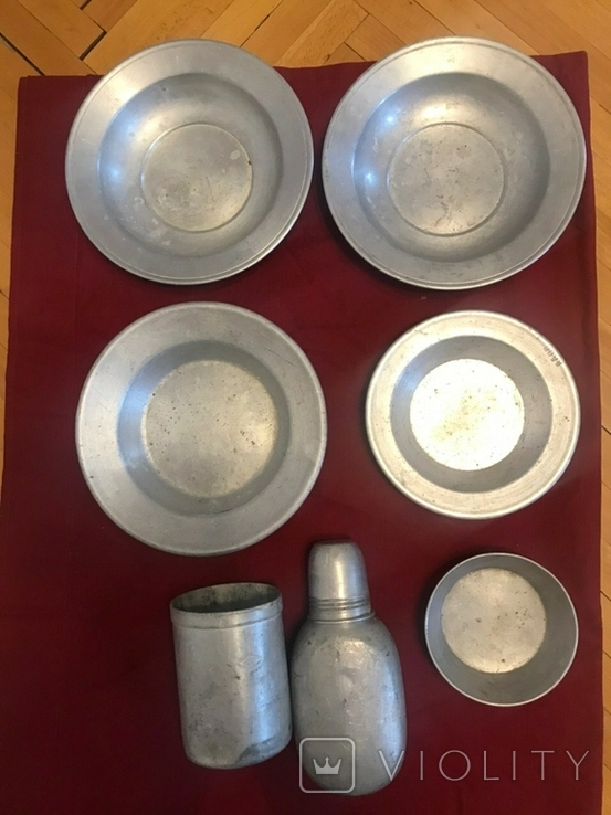 Посуд,  алюміній фляга тарілки, фото №2