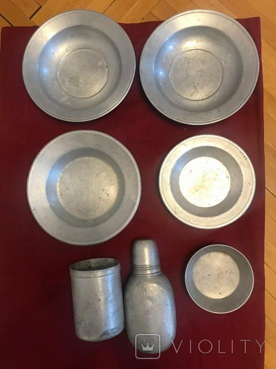 Посуд,  алюміній фляга тарілки, фото №3