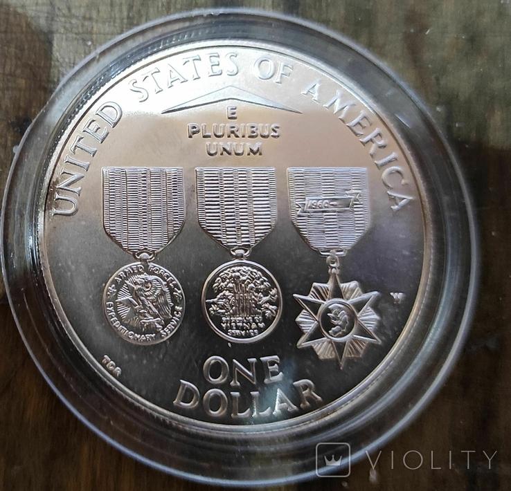 США 1 доллар 1994 г. Мемориал ветеранов Вьетнама., фото №3