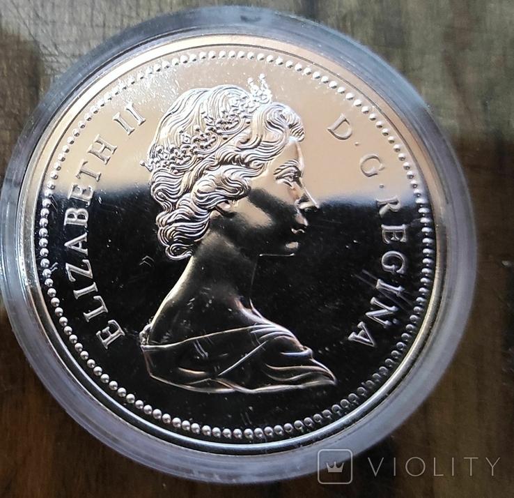 Канада 1 доллар 1976 г. Серебро. 100-летие Библиотеки Парламента Канады., фото №3