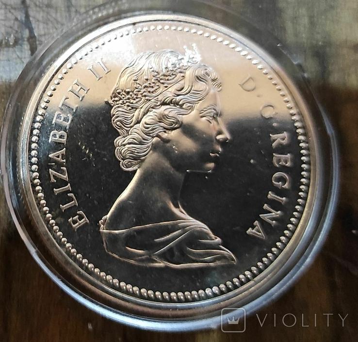 Канада 1 доллар 1973 г. Серебро. Полицейский канадской конной полиции, фото №3