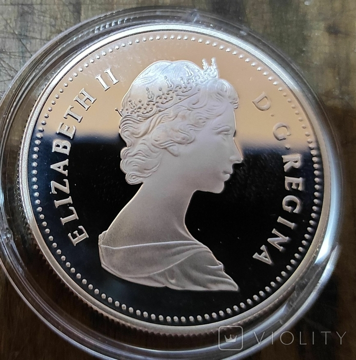 Канада 1 доллар 1982 г. Серебро. 100-летие города Реджайна, фото №3