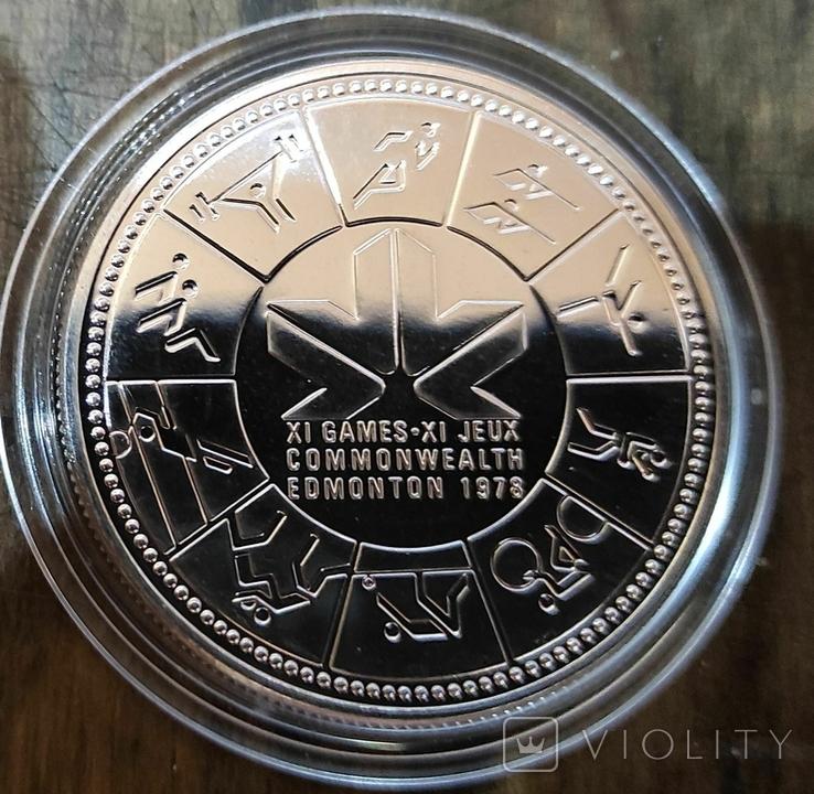 Канада 1 доллар 1978 г. Серебро. XI Игры Содружества. Королева Елизавета II., фото №2