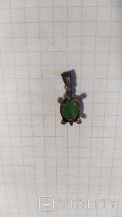 Серебренная подвеска черепаха., фото №7