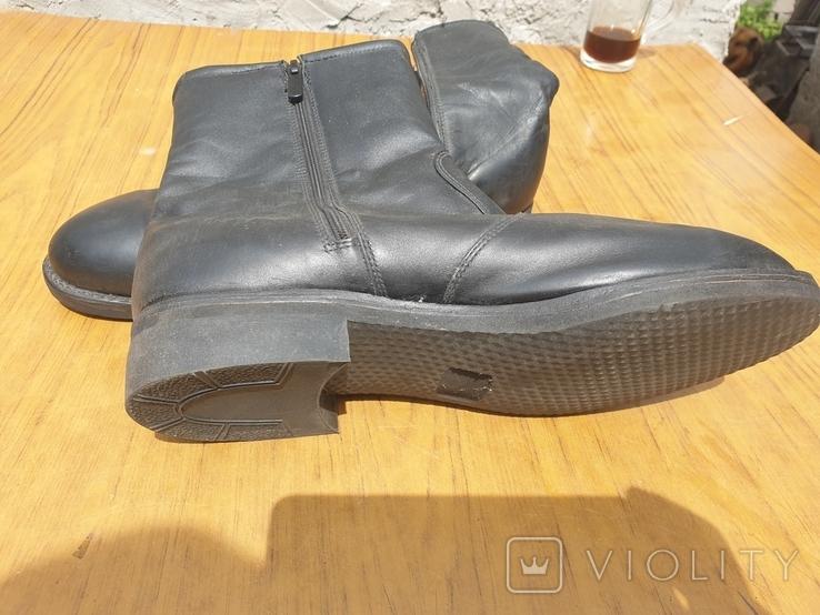 Хромовые ботинки на меху 42р, фото №3