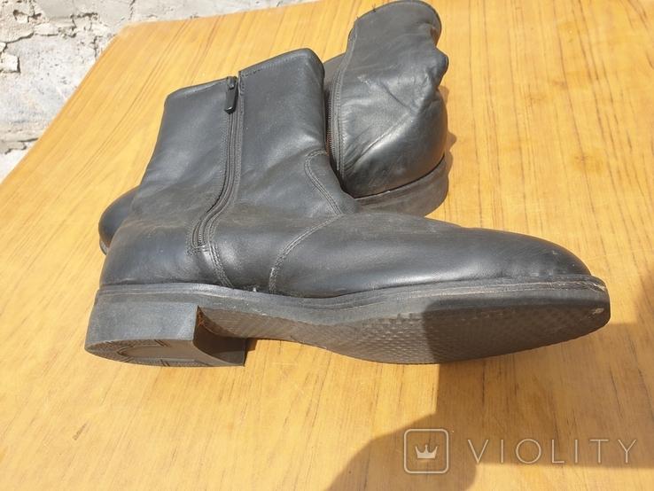 Хромовые ботинки на меху 42р, фото №4