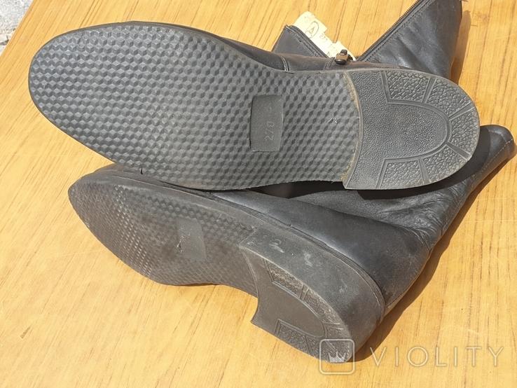 Хромовые ботинки на меху 42р, фото №5