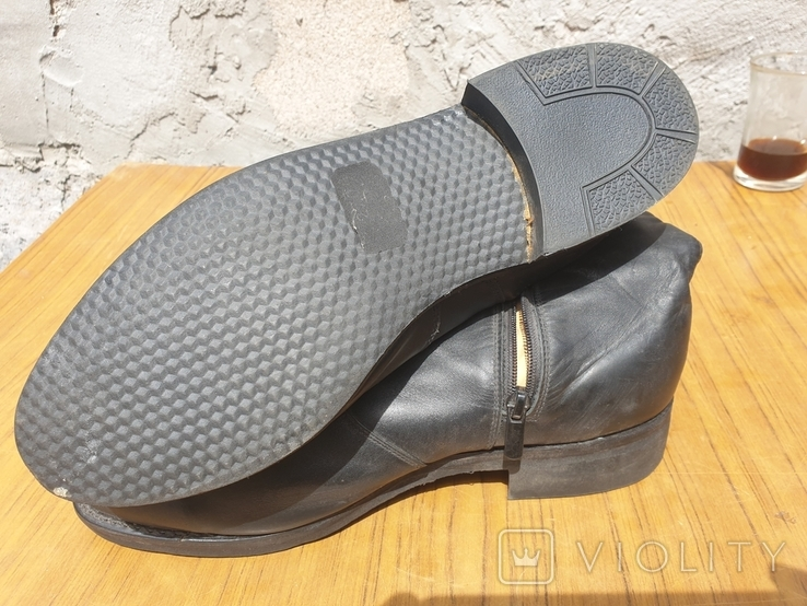 Хромовые ботинки на меху 42р, фото №7
