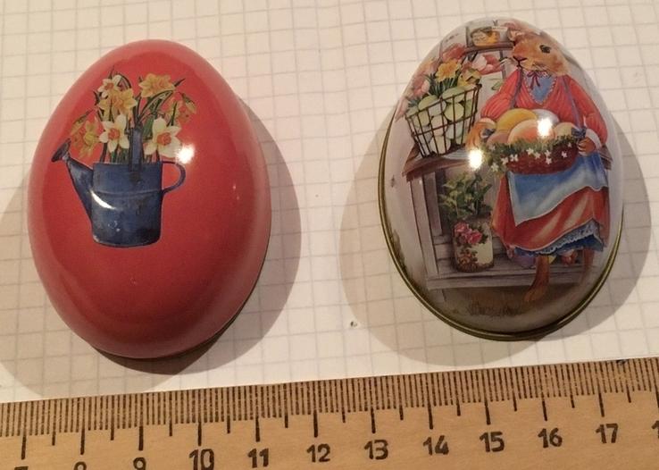 Шкатулка жестяная, пасхальное яйцо, заюшка-хозяюшка, цветы, фото №11