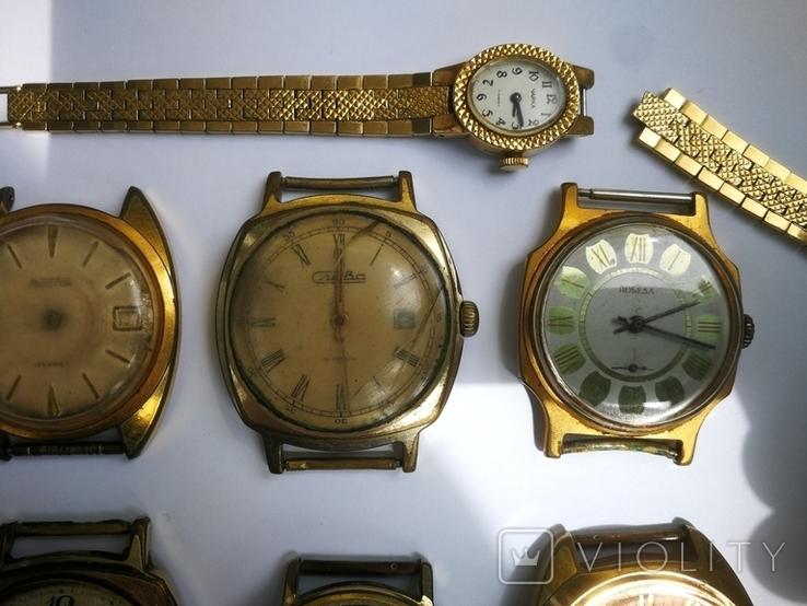 15 Часы СССР в позолоте Ау, Au, фото №4