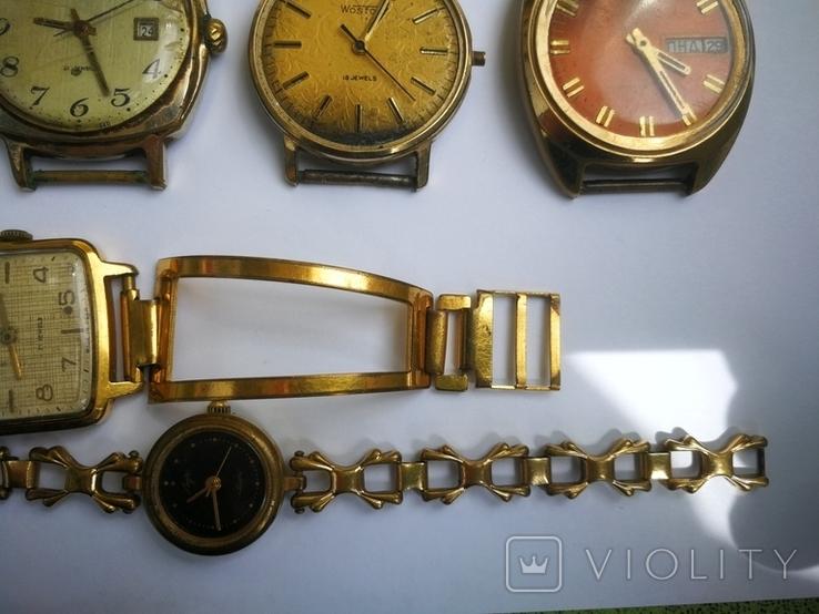 15 Часы СССР в позолоте Ау, Au, фото №9