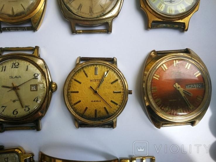 15 Часы СССР в позолоте Ау, Au, фото №10