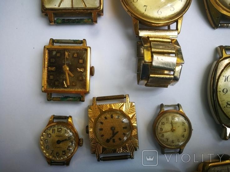 15 Часы СССР в позолоте Ау, Au, фото №13