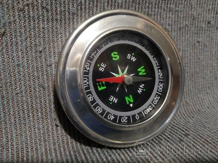 Компас карманный в металлическом корпусе, фото №2
