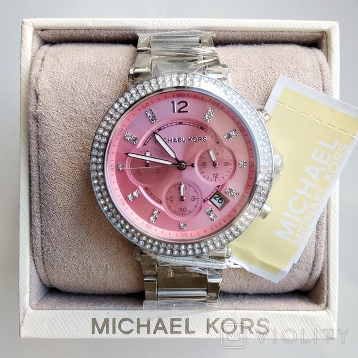 Часы с хронографом Michael Kors Parker MK6105 с кристаллами Swarovski , новые, фото №2