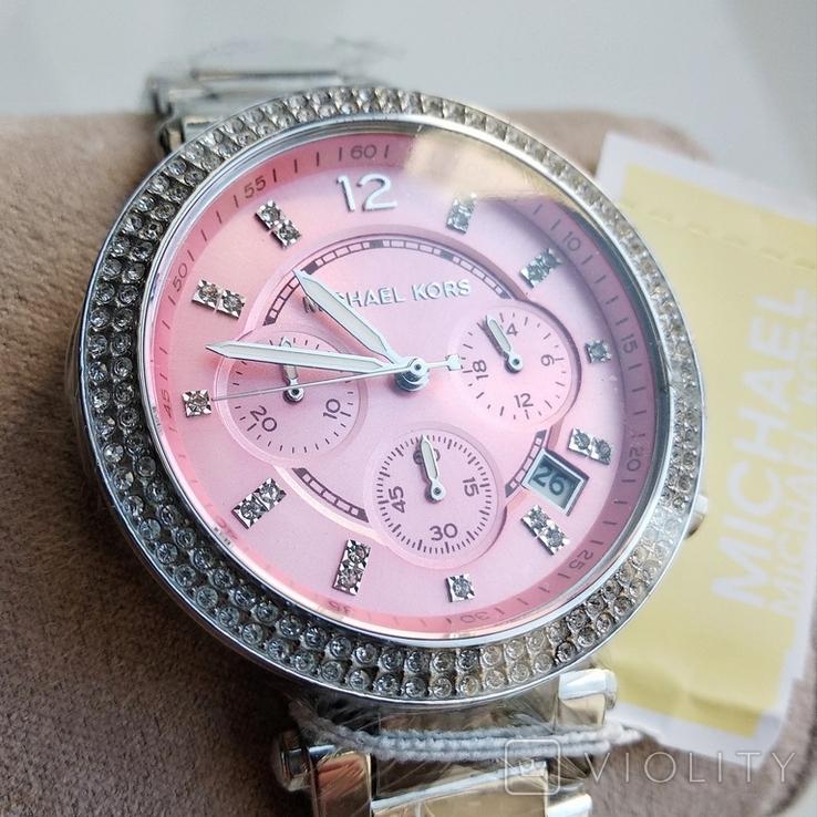 Часы с хронографом Michael Kors Parker MK6105 с кристаллами Swarovski , новые, фото №4