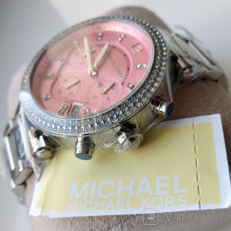 Часы с хронографом Michael Kors Parker MK6105 с кристаллами Swarovski , новые, фото №5