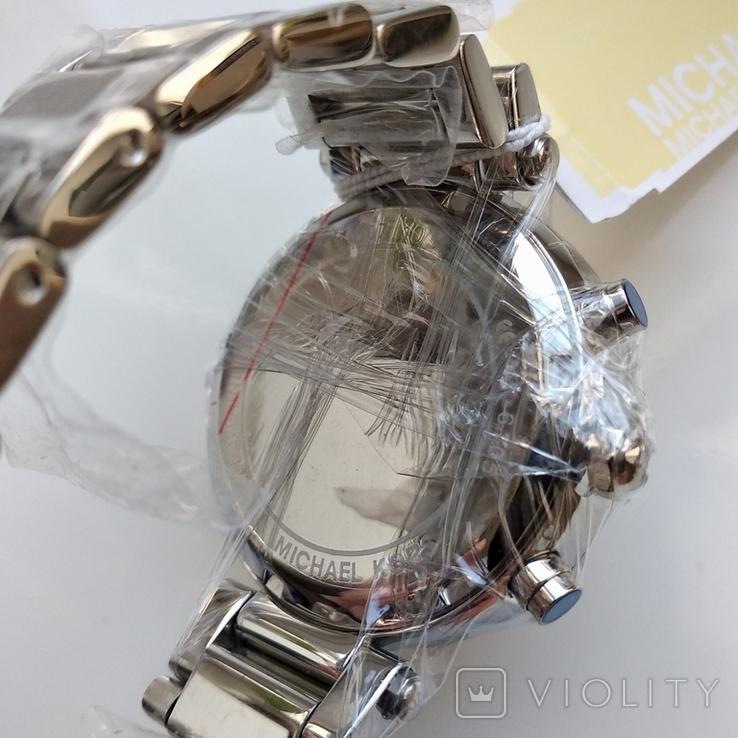 Часы с хронографом Michael Kors Parker MK6105 с кристаллами Swarovski , новые, фото №7