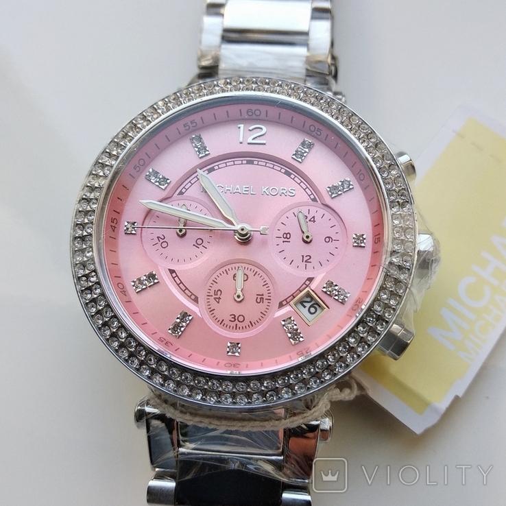 Часы с хронографом Michael Kors Parker MK6105 с кристаллами Swarovski , новые, фото №9