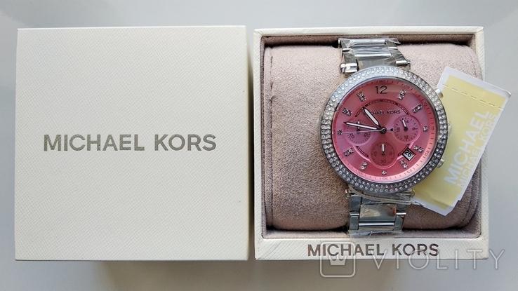 Часы с хронографом Michael Kors Parker MK6105 с кристаллами Swarovski , новые, фото №10