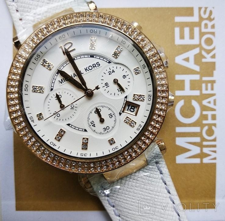 Часы с хронографом Michael Kors Parker MK2290 с кристаллами Swarovski , новые, фото №2
