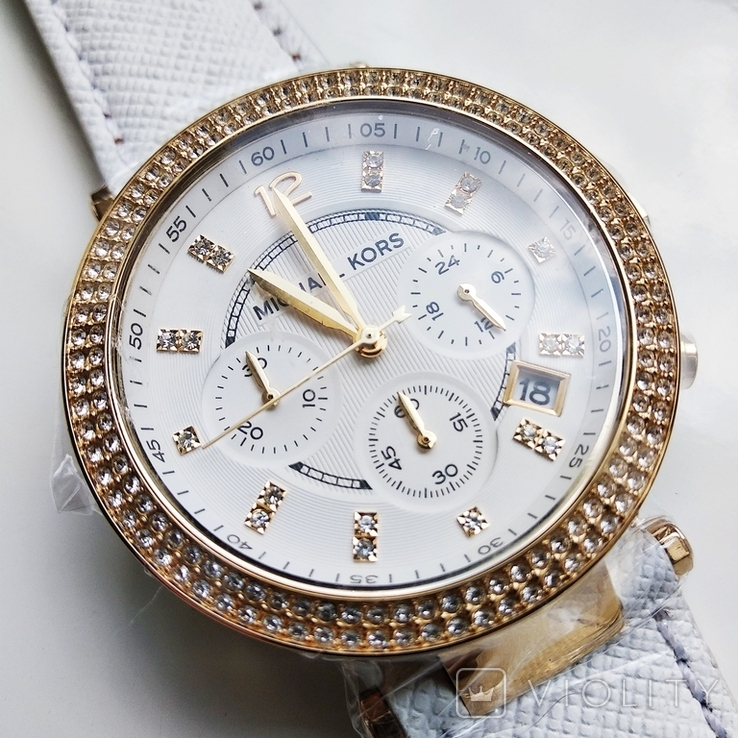 Часы с хронографом Michael Kors Parker MK2290 с кристаллами Swarovski , новые, фото №4